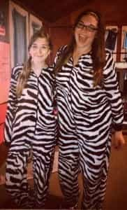 Racquel & Mera as Zebra Twins